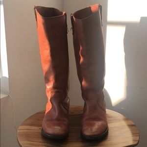 Madewell Archive Riding Boots in Brown